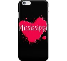 Mississippi Splash Heart Mississippi iPhone Case/Skin