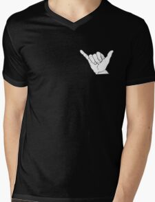 Shaka Hand Mens V-Neck T-Shirt