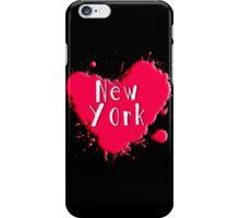 New York Splash Heart New York iPhone Case/Skin
