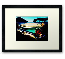 Fifties Ford Fairlane Fairly Parked on the Parkway Framed Print
