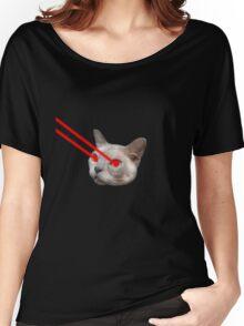 Laser Eyes Cat Women's Relaxed Fit T-Shirt