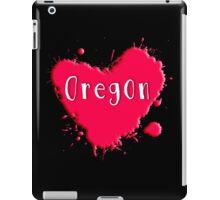 Oregon Splash Heart Oregon iPad Case/Skin