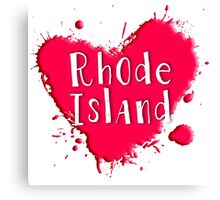 Rhode Island Splash Heart Rhode Island Canvas Print