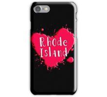 Rhode Island Splash Heart Rhode Island iPhone Case/Skin