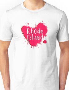 Rhode Island Splash Heart Rhode Island Unisex T-Shirt