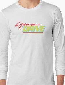 Retro License to Drive Design by Nuance Art Long Sleeve T-Shirt