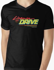 Retro License to Drive Design by Nuance Art Mens V-Neck T-Shirt