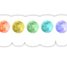 ROYGBIV Moons Sticker