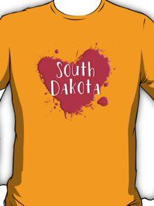 South Dakota Splash Heart South Dakota T-Shirt