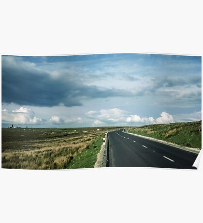 Road on Wadsworth Moor West Yorkshire England 19840603 0062m Poster
