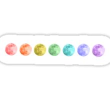 Rainbow Moons Sticker