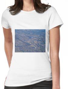 Aerial, Brisbane , Queensland, Australia Womens Fitted T-Shirt