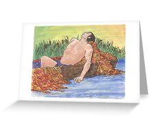 Zen Rowboat Song Greeting Card