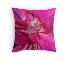 Geranium Macro Throw Pillow