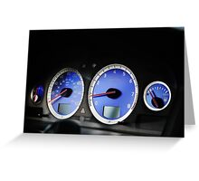 Volvo S60R Cluster FAST RARE Greeting Card
