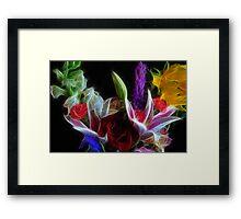 Colorful Flower Bouquet Framed Print