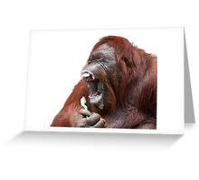 Orangutan Oral Hygiene 01 Greeting Card