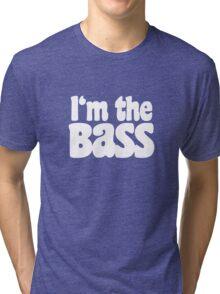 I'm the BaSS (White) Tri-blend T-Shirt
