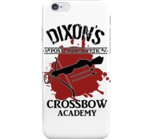 DIXON'S POST-APOCALYPTIC CROSSBOW ACADEMY iPhone Case/Skin
