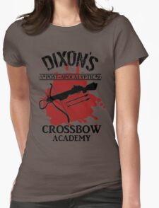 DIXON'S POST-APOCALYPTIC CROSSBOW ACADEMY Womens Fitted T-Shirt