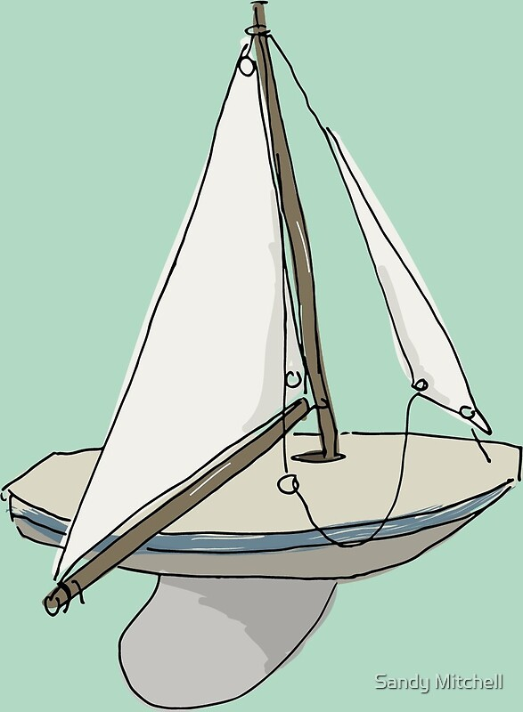 Quot Model Sailing Boat Quot By Sandy Mitchell Redbubble