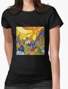 The Dream Colorful Psychedelic Folk Art Womens Fitted T-Shirt