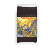 The Dream Colorful Psychedelic Folk Art Duvet Cover