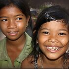 Children of a Village near Siem Reap, Cambodia by Bev Pascoe