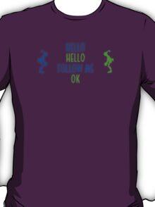 Abe's Hello (Blue & Green Retro) T-Shirt