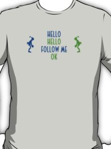 Abe's Hello (Blue & Green Retro) T-Shirt