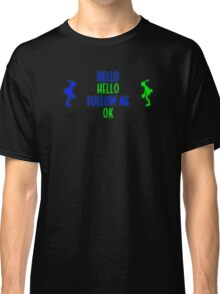 Abe's Hello (Blue & Green Retro) Classic T-Shirt