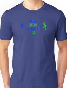 Abe's Hello (Blue & Green Retro) Unisex T-Shirt