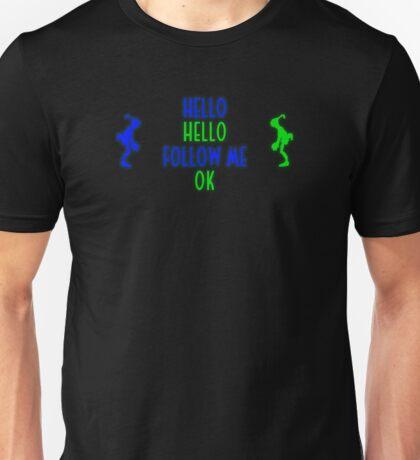 Abe's Hello (Blue & Green Retro) Unisex T-Shirt
