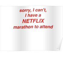 Netflix Marathon Poster