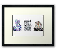 Camera Pattern 2.3 Framed Print