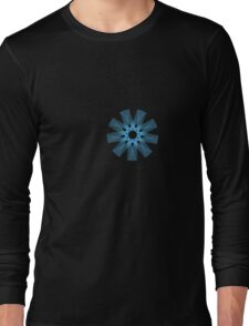 Radical Spirography - Blue Long Sleeve T-Shirt