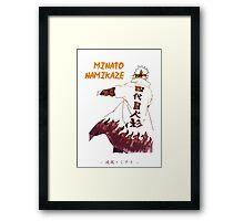 Minato Namikaze Framed Print