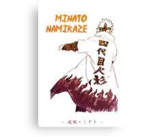 Minato Namikaze Canvas Print