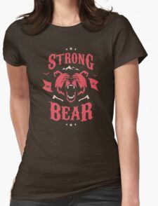 STRONG AS A BEAR Womens Fitted T-Shirt