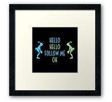 Oddworld Abe's Oddysee Hello (Blue & Green) Framed Print