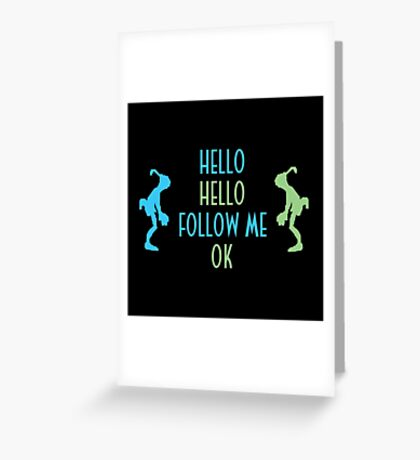 Oddworld Abe's Oddysee Hello (Blue & Green) Greeting Card