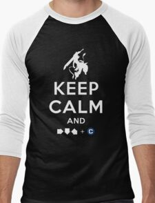 Keep Calm and INFERNO DIVIDER! Men's Baseball ¾ T-Shirt