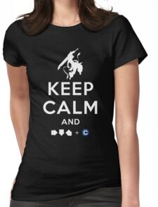 Keep Calm and INFERNO DIVIDER! Womens Fitted T-Shirt