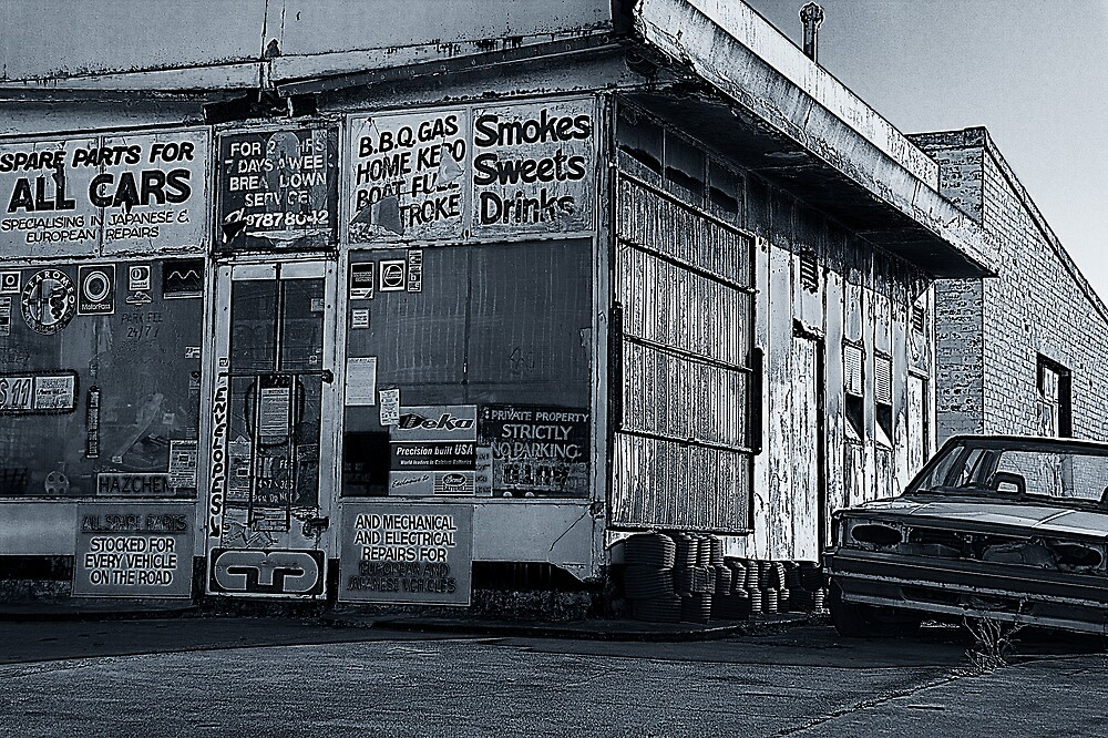 Gas Station by MickDodds