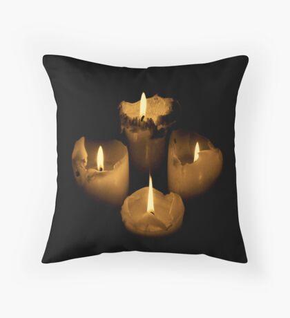 Midnight Flame Throw Pillow