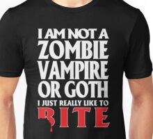 Just really like to bite -- on black Unisex T-Shirt