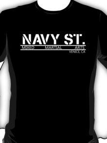 Navy Street Alternate Font- White T-Shirt