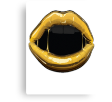 GOLDEN LIPS Canvas Print