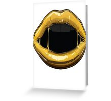 GOLDEN LIPS Greeting Card