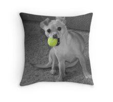 My Ball!! Throw Pillow